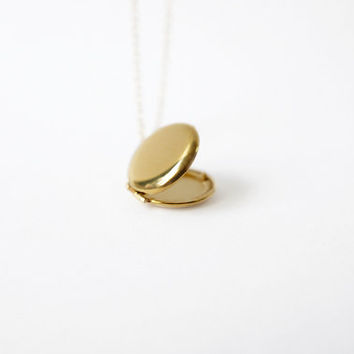 14k Gold Filled Locket (Round, petite, delicate locket)