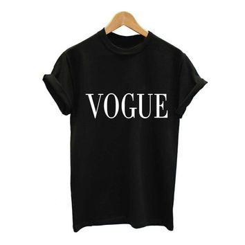 Plus Size S-XL Fashion Summer T Shirt Women VOGUE Printed T-shirt Women Tops Tee Shirt Femme New Arrivals Hot Sale Casual Sakura