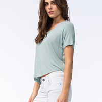 Full Tilt Oh So Easy Womens Tee Mint  In Sizes
