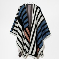 ASOS Color Blocked Wrap Cape