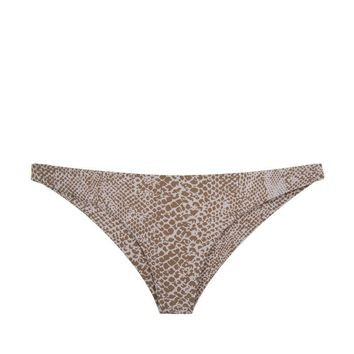 Waikoloa Low Rise Cheeky Bikini Bottom - Snake Lining Beige