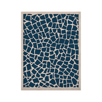 "Project M ""British Mosaic Navy"" KESS Naturals Canvas (Frame not Included)"