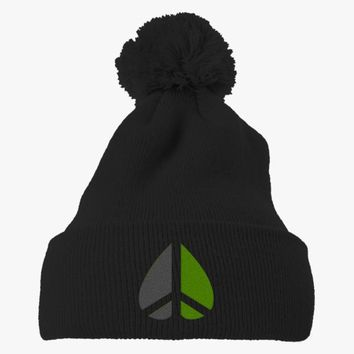 Greenpeace Funny Geek Nerd Embroidered Knit Pom Cap