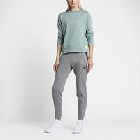 The Nike Sportswear Bonded Women's Long Sleeve Top.