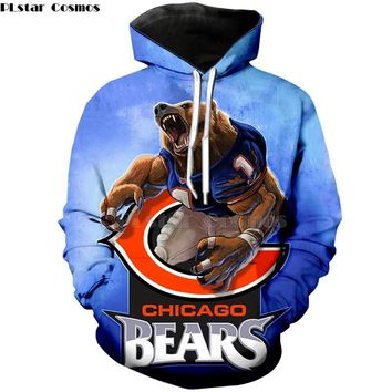 American football Fashion 3D hoodies hooded sweatshirt cool pullover Chicago Bears
