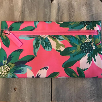 Monogram Pencil Pouch, Vera Bradley Pencil Case, Tropical Paradise, Monogram Pencil Case, Pencil Case, Pencil Pouch, Valentine, Easter