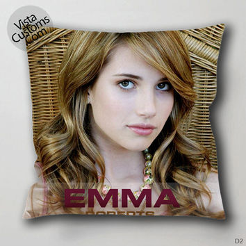 american horror story actress Emma Roberts3 Pillow Case, Chusion Cover ( 1 or 2 Side Print With Size 16, 18, 20, 26, 30, 36 inch )