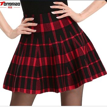 *online exclusive* knit flare skater skirt (more colors/prints)