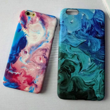 Cool Tie-Dye Solid Mobile Phone Case For iPhone 7 7 plus Iphone 6 6s 6plus 6s plus + Nice gift box!