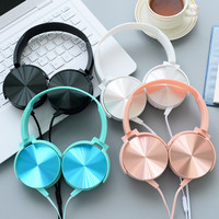 Headphones w/ Microphone Rose Gold, Blue, Black, Silver