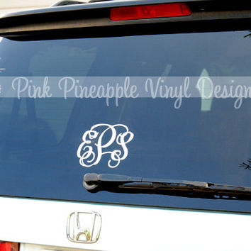 One 5 inch Custom Monogram Decal by eas423 on Etsy
