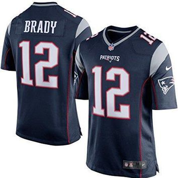 Tom Brady New England Patriots #12 Nike Youth Game Jersey Navy