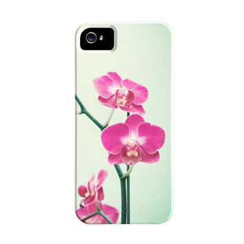 Orchid iPhone Case - 5s, 5, 4s, 4 flower pink pretty iphone case nature floral shabby chic mint iphone 5 cases cute iphone 4 4s cover art