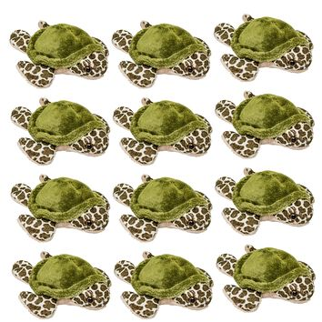 "12 Pack Sea Turtle Mini 4"" Small Stuffed Animals, Bulk Bundle Ocean Animal Toys, Sea Party Favors for Kids"