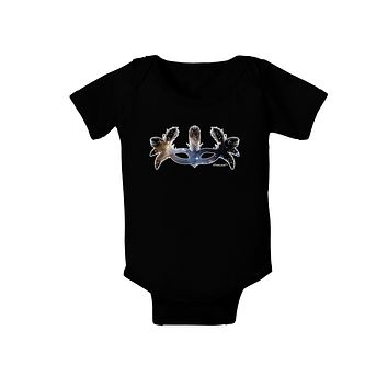 Galaxy Masquerade Mask Baby Bodysuit Dark by TooLoud
