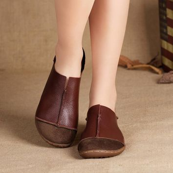 comfortable brown loafers Casual Slip-on shoes