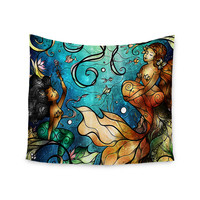 "Mandie Manzano ""Under the Sea"" Mermaids Wall Tapestry"