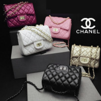 """Chanel"" women Lingge chain Bag Shoulder Messenger Bag (8-COLOR)"