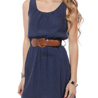 Papaya Clothing Online :: PLEATED SLEEVELESS DRESS W/ BELT
