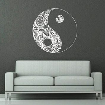Wall Decals Yin Yang Symbol Floral From Amazon Wall Decals - Vinyl wall decals asian