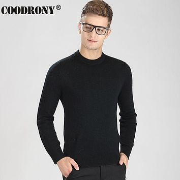 Winter Thick Warm Merino Wool Sweater Men Casual Solid Color Cashmere Turtleneck Pullover Men