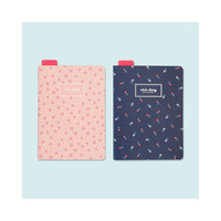 PLEPLE Ololo flower pattern undated large diary scheduler