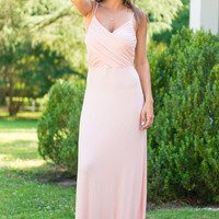 Cross It On Over Maxi Dress, Blush