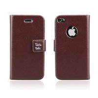 HOTER® Flip Leather Apple iPhone 4/4S Case