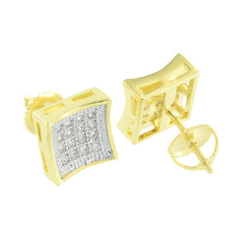 Mens Screw Back Earrings Ladies Simulated Diamond Studs