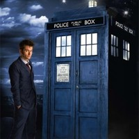 "Doctor Who - Glow In The Dark TV Show Poster (The Doctor & The Tardis) (David Tennant) (Size: 24"" x 36"")"