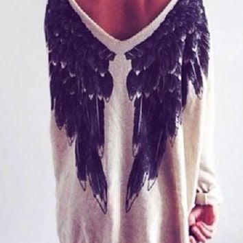 """Angel Wings"" oversized sweater"