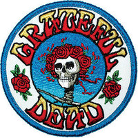 Grateful Dead Men's Embroidered Patch White