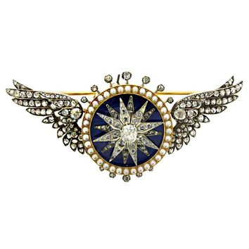 Automated Sarpech Brooch Attributed to Garrard