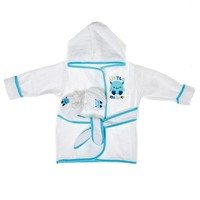2pc Bath Robes Booties Set 0 9m 312105236 | Baby Gift Sets | Baby Gifts | Clothing | Burlington Coat Factory