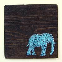 Elephant String Art - Modern Wall Art Tablet