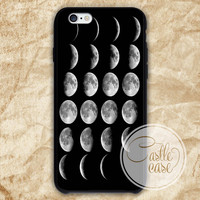 Moon Phases, Lunar Phases phone case iPhone 4/4S, 5/5S, 5C Series, Samsung Galaxy S3, Samsung Galaxy S4, Samsung Galaxy S5 - Hard Plastic, Rubber Case