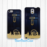 221b Sherlock holmes baker case for iPhone 6/4s/5/5s/5c, Samsung S5/Note4, Sony, LG Nexus, Nokia Lumia, HTC One, Moto X Moto G(K30)