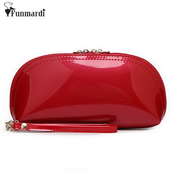 New arrival Summer hot sale candy PU patent leather day clutches fashion star style Evening Bag Luxury purse 15 colors WLHB1146