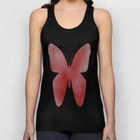 Red Butterfly Unisex Tank Top by liberthine01