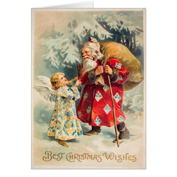 Vintage Santa Christmas Card Customize it