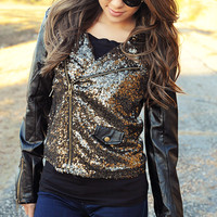 No Boundaries Jacket: Black/Gold | Hope's
