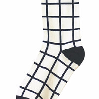 Plaid Ankle Socks