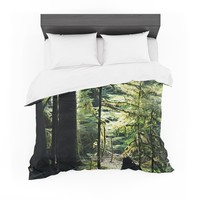 "Robin Dickinson ""Enchanted Forest"" Green Featherweight Duvet Cover"
