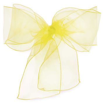 Organza Chair Cover Sash Bows 10 Pack Of One Color In Each Box