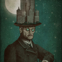 The Architect (colour option) Art Print by Eric Fan