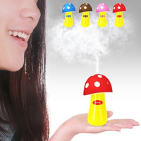 Ultrasonic Cool Mist Humidifier,Dizaul Mushroom Humidifier 200ml for skin moisturing,stealth mask with No Noise,Waterless Auto Off,LED Lights,Portable for Baby Room,Bedroom,Office,Spa,Yoga,Car(Red)
