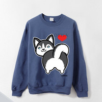 I love Husky Butt Crewneck Sweatshirt