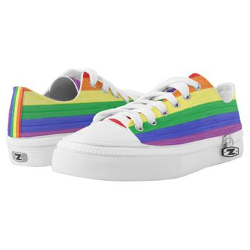 Painted Rainbow Flag Low-Top Sneakers