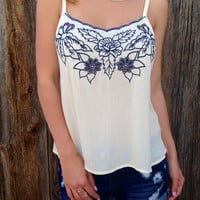 Darling Floral Embroidered Top - FINAL SALE
