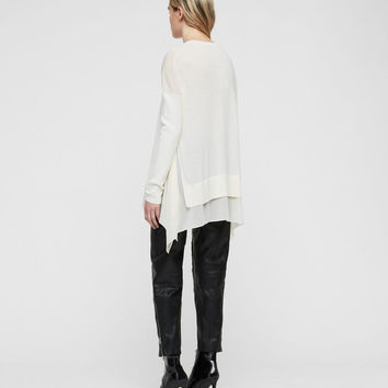 ALLSAINTS US: Womens Libby Crew Neck Sweater (chalk_white)
